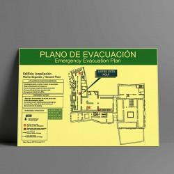 Planos de evacuación...